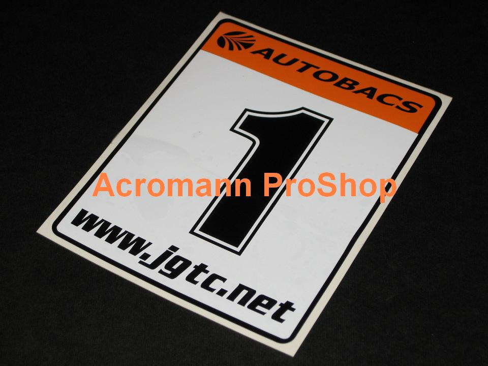 Autobacs Japan JGTC Race Number Plate Decals Stickers(#2) x 2pcs